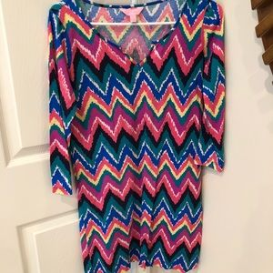 Lilly Pulitzer multi colored cotton dress size S